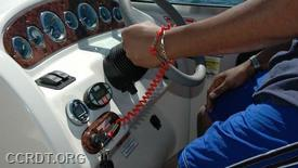 All operators of boats 26 feet or less will be required to wear an engine cut-off switch on a lanyard, effective April 1. (National Association of State Boating Law Administrators)